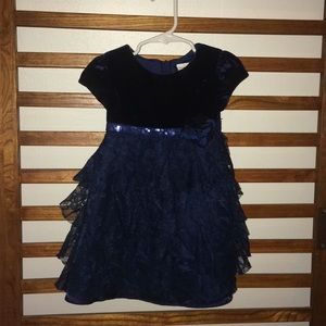 Girls Holiday Dress Navy 3t